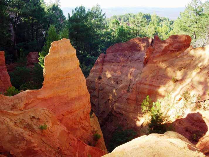 Wanderweg – Ockerweg in Roussillon